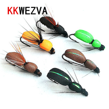 KKWEZVA 18pcs fishing fly lures insect dry floating type similar to artificial bait Trout Tackle