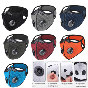 Face Mask Breathable Bacteria-proof Sport Face Mask With Activated Carbon PM 2.5 Anti-pollution Running Cycling Facial Care Mask