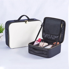 High Quality PU Makeup Organizers Women Professional Cosmetic Case Beauty Travel