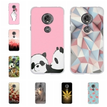 For Motorola Moto E5 Case Soft TPU Silicone G6 Play Cover Panda Patterned E 5th Gen. Coque