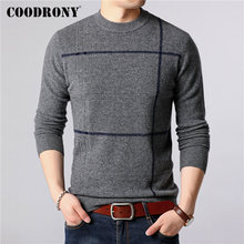 COODRONY Brand Sweater Men 100% Merino Wool Pullover Men Winter Thick Warm Sweaters Soft Cashmere Casual O-Neck Pull Homme 93042 coodrony brand pure merino wool sweater men autumn winter thick warm soft cashmere pullover men fashion o neck pull homme 93021