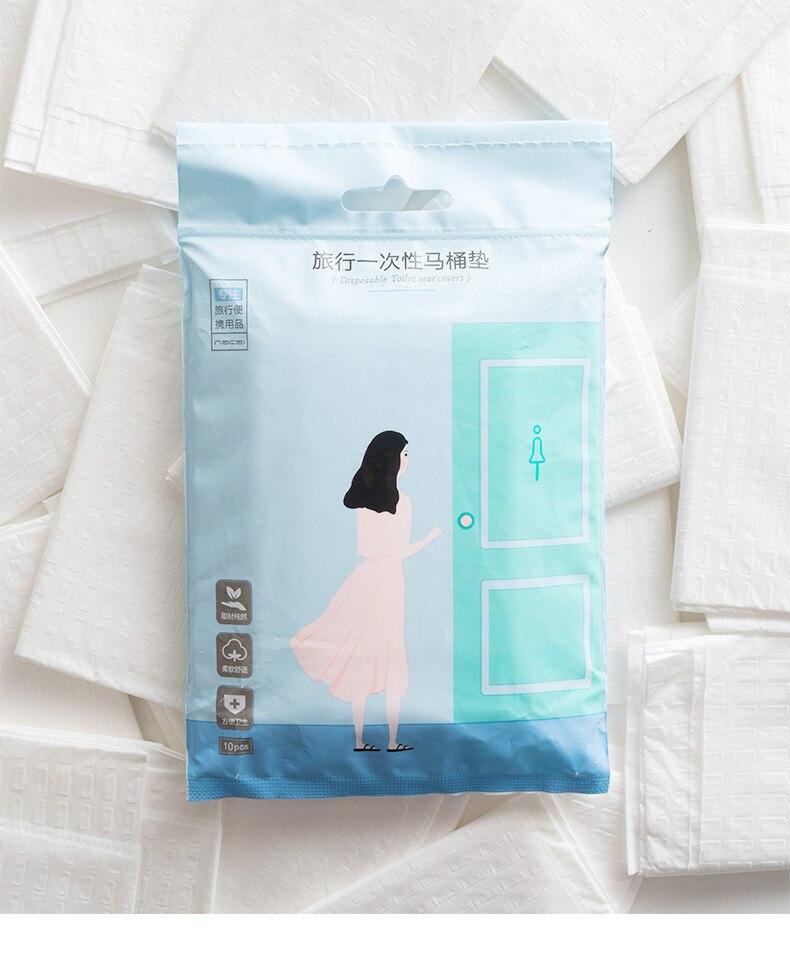 Nh8160 Nacai одноразовый коврик для унитаза, для путешествий, для матери, для дома, zuo dian zhi, портативный клейкий чехол для унитаза, 10 шт