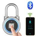 Bluetooth-замок отпечатков пальцев, портативный, БЕСКЛЮЧЕВОЙ, умный, USB, электрический, IP65, водонепроницаемый, сумка, Чехол для багажа, приложение...