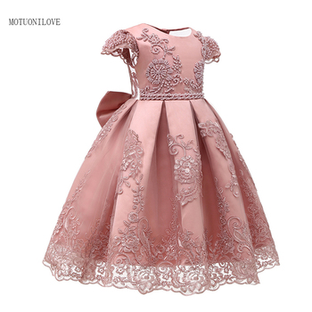 New Kids Evening Gowns Lace Appliques Tea Length Flower Girls Dress Princess Elegant Pageant Dresses For Wedding Birthday Party gorgeous children girls black grey birthday celebration evening party flower princess lace dress kids model catwalk host dress