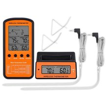 Barbecue Baking Sugar Food Thermometer Wireless Receiving Double Probe Electronic