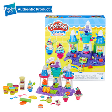 Hasbro Play-Doh Kitchen Creations Ice Cream Castle Party Play Doh Slime Supplies Fun Factory Clay Kids Toys