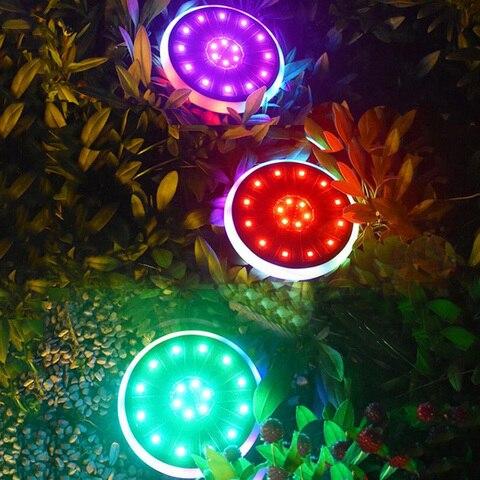 thrisdar 7 cores rgb luzes de disco solar a terra 30 leds solar enterrado luz