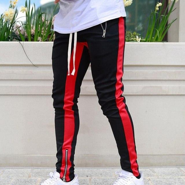 JODIMITTY-pantalones de chándal para hombre, ropa deportiva informal con cremallera, estilo Hip Hop, 2021 3