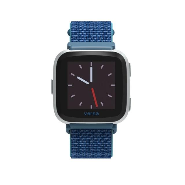 Bandes en Nylon pour Fitbit Versa/Versa 2 Bracelet Bracelet de montre intelligente pour Fitbit Versa accessoires de poignet de remplacement