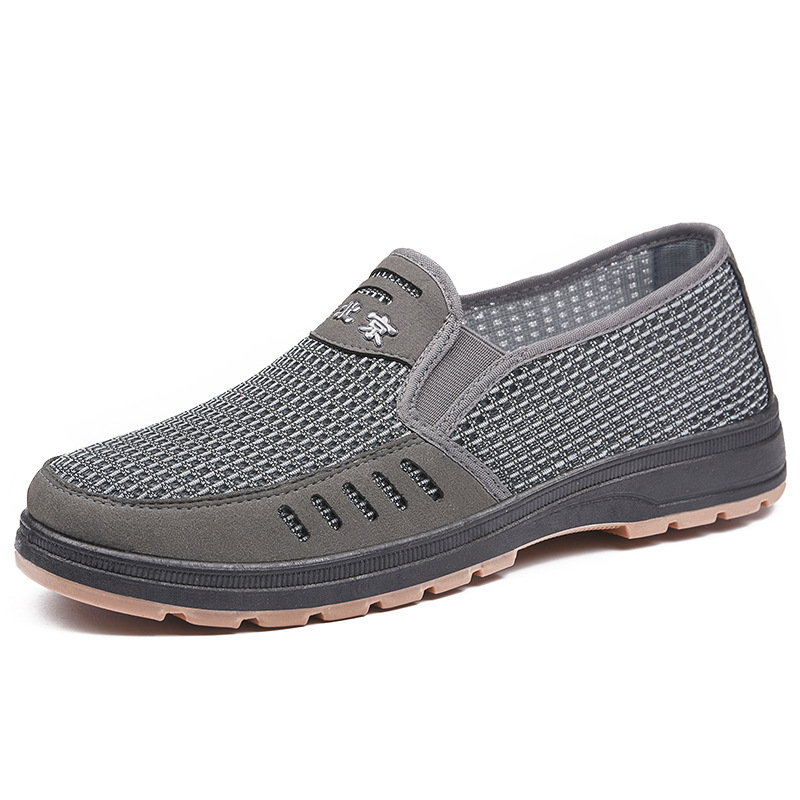 2020 men's shoes classic mesh shoes cloth shoes summer new casual shoes fashion breathable lazy shoes one pedal wild men's shoes