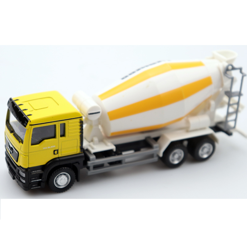1:32 Diecast Toy Car Engineering Toy Truck High Simulation Toy Car Cement Truck Body Can Be Rotated Toy Car For Children's Gift