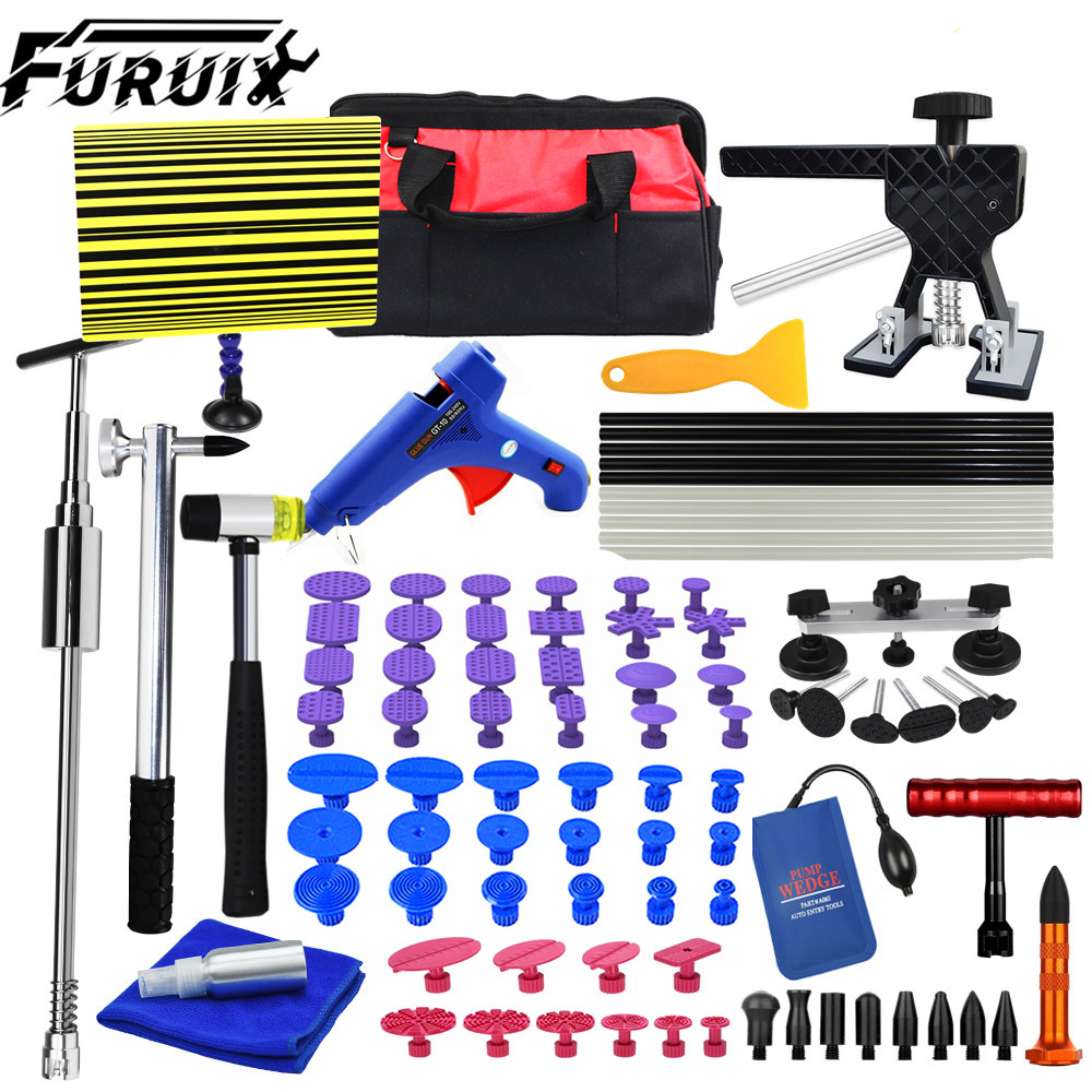 FURUIX Paintless DENT Remove Kits Auto Car Body Paintless Dent Repair Removal Tools Kit for Automobile Body
