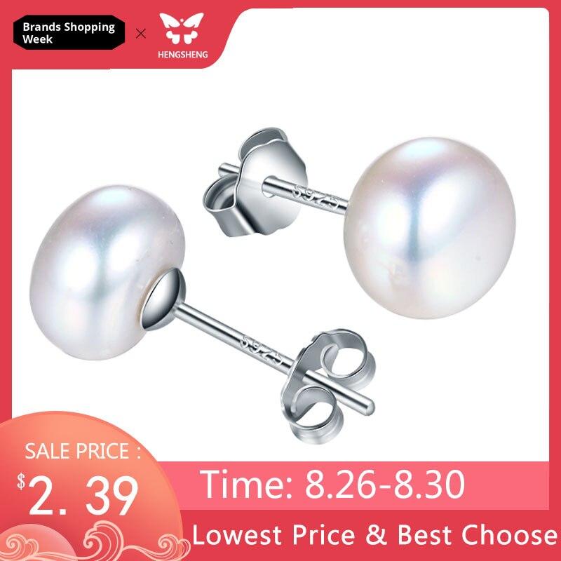100% véritable d'eau douce rose perle boucles d'oreilles bijoux de mode argent boucles d'oreilles pour les femmes super deal avec boîte-cadeau 2018 nouveau