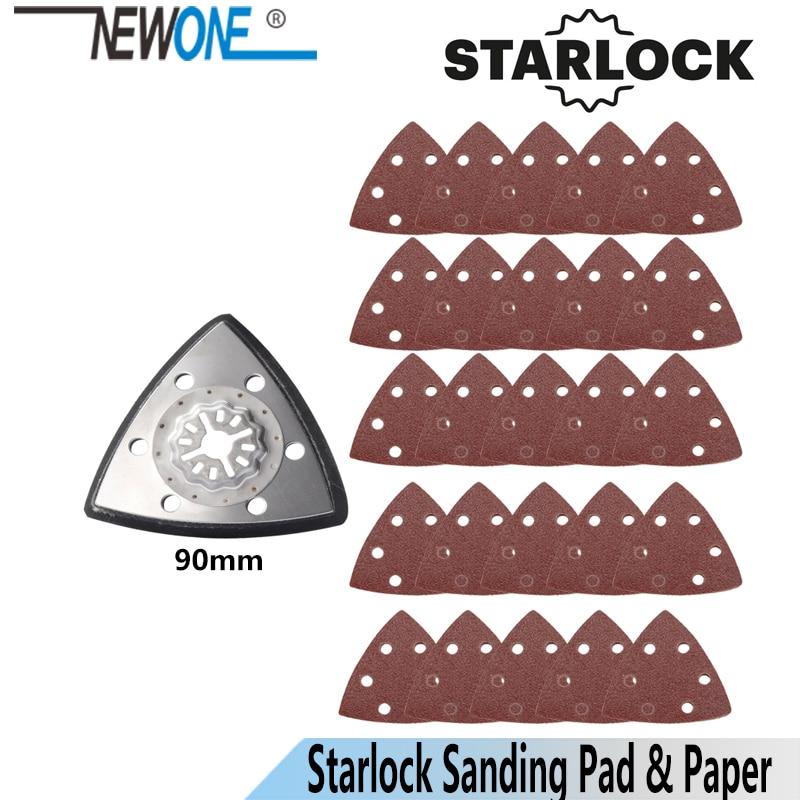 NEWONE Starlock Triangular Polish Saw Blades And Sandpaper Sets Fit Power Oscillating Tools For Polish Wood Metal Ceramic More