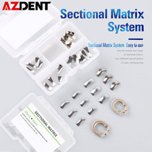 Système de matrice dentaire sectionnelle, bande métallique, résine, anneau de serrage/séparation, outils de dentiste autoclavables