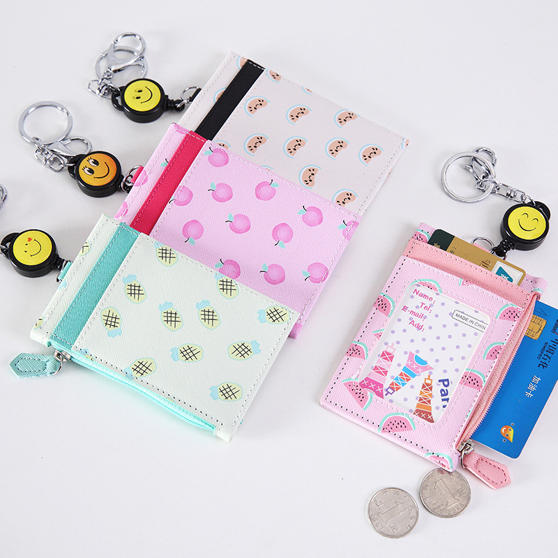 Creative Girls Flower Retractable Badge Card Holder Nurse Doctor Exhibition Key ID Name Card Badge Holder School Office Supplies