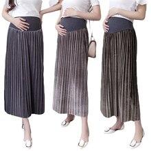 Sunbaby – vêtements de maternité automne et hiver, jupe plissée en velours pour femmes enceintes, nouveau Style coréen, à la mode, Q1219