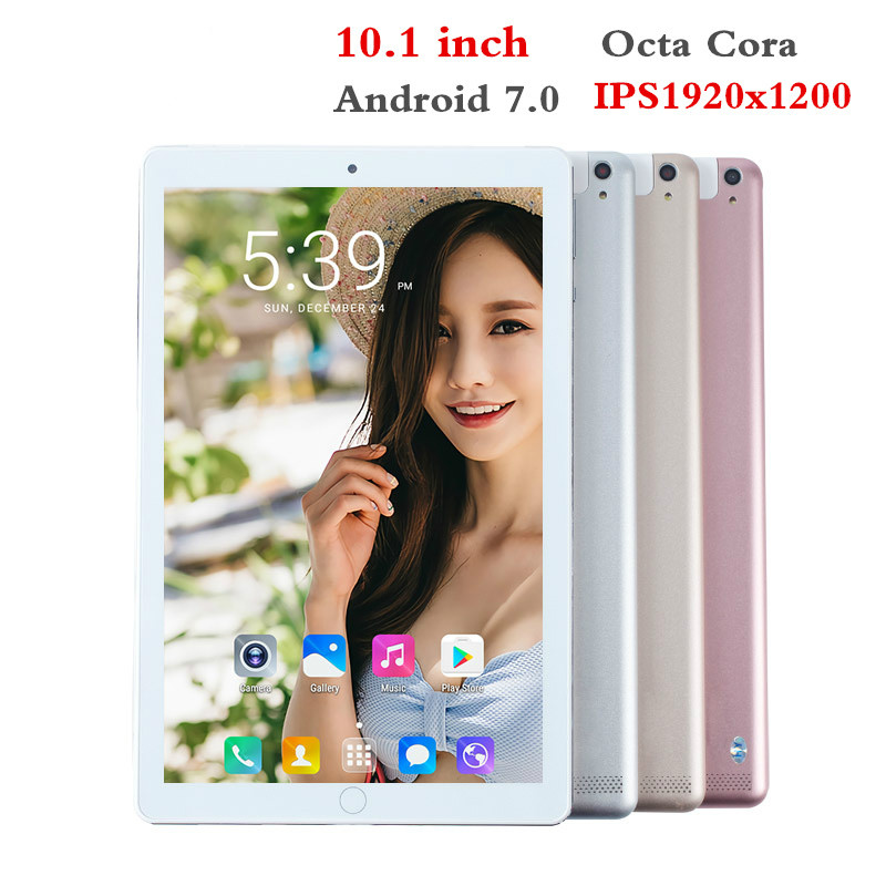 2020 New 10.1 Inch 4GLTE Tablet PC 6G RAM128G ROM MTK6582 Octa-core Phone PC 1920X1200 IPS 4G WCDMA/2SIM GPS Bluetooth WIFI