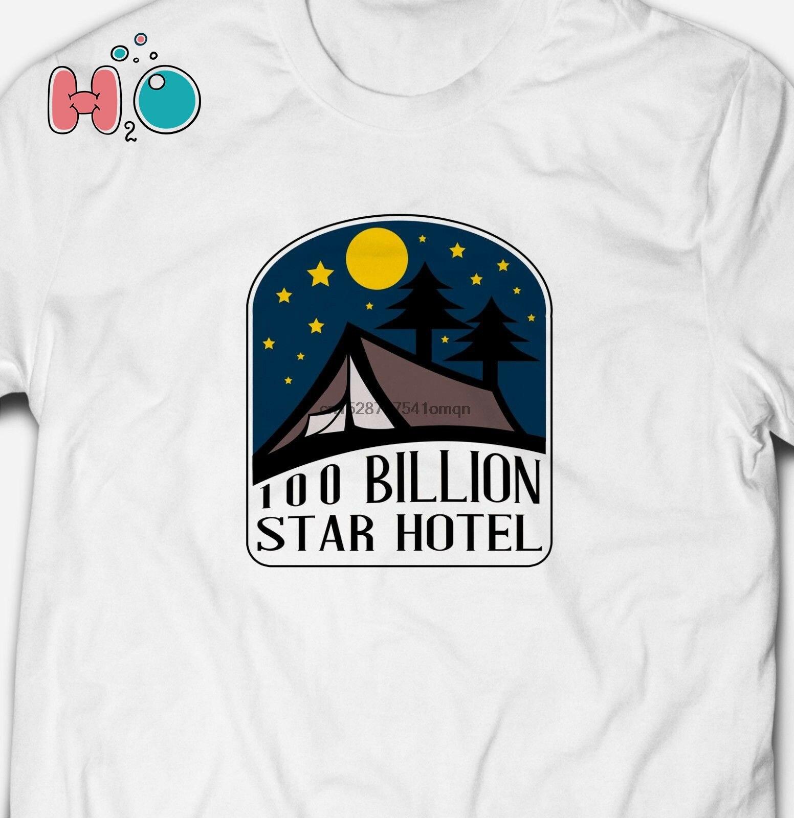 100 BILLION STAR HOTEL CAMPING HIKING ADVENTURE 100% Cotton Mens T-shirt Tee