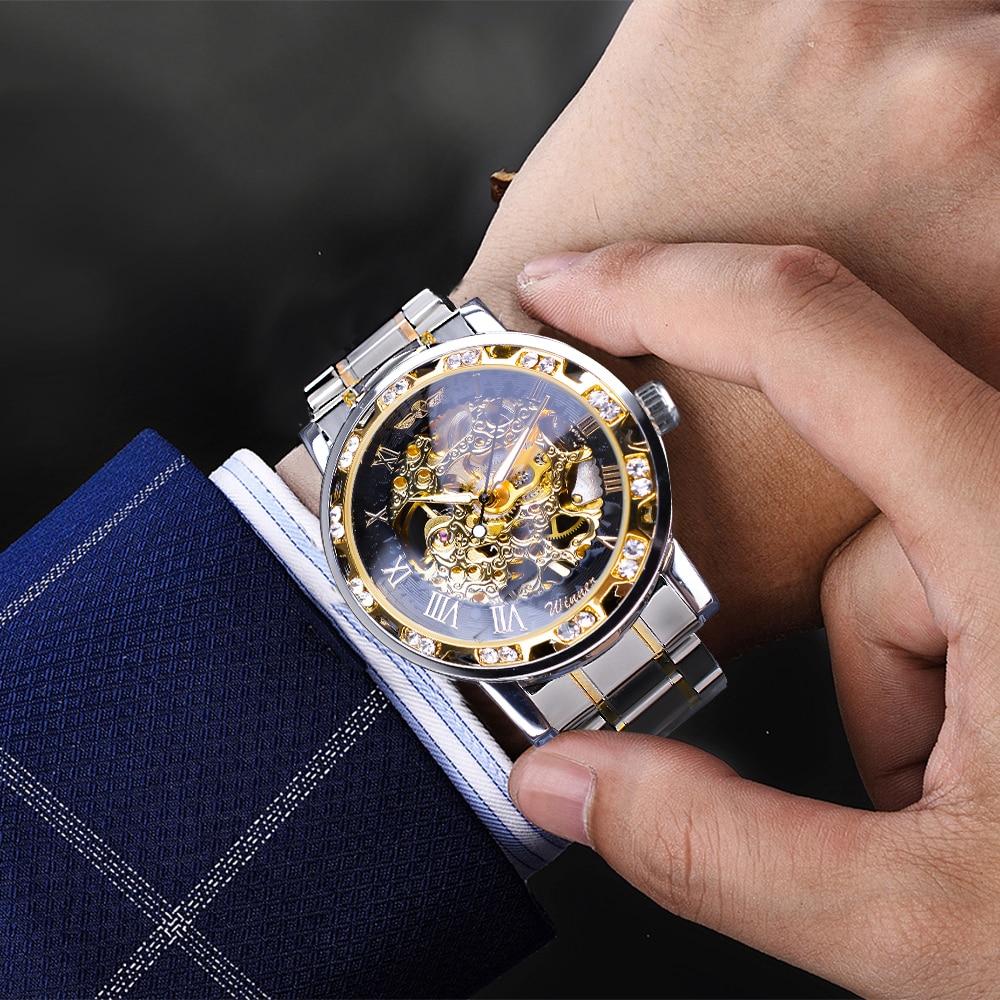 Ha6474a77d30d4a5f9b945472cc859df0s Winner Transparent Fashion Diamond Luminous Gear Movement Royal Design Men Top Brand Luxury Male Mechanical Skeleton Wrist Watch