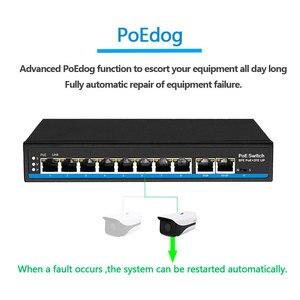 Image 2 - Ai schalter PoE hund erste Port mit 60 watt PoE switch 4 port 8 port Ethernet switch Unterstützung VLAN 250M für ip kamera wirless AP