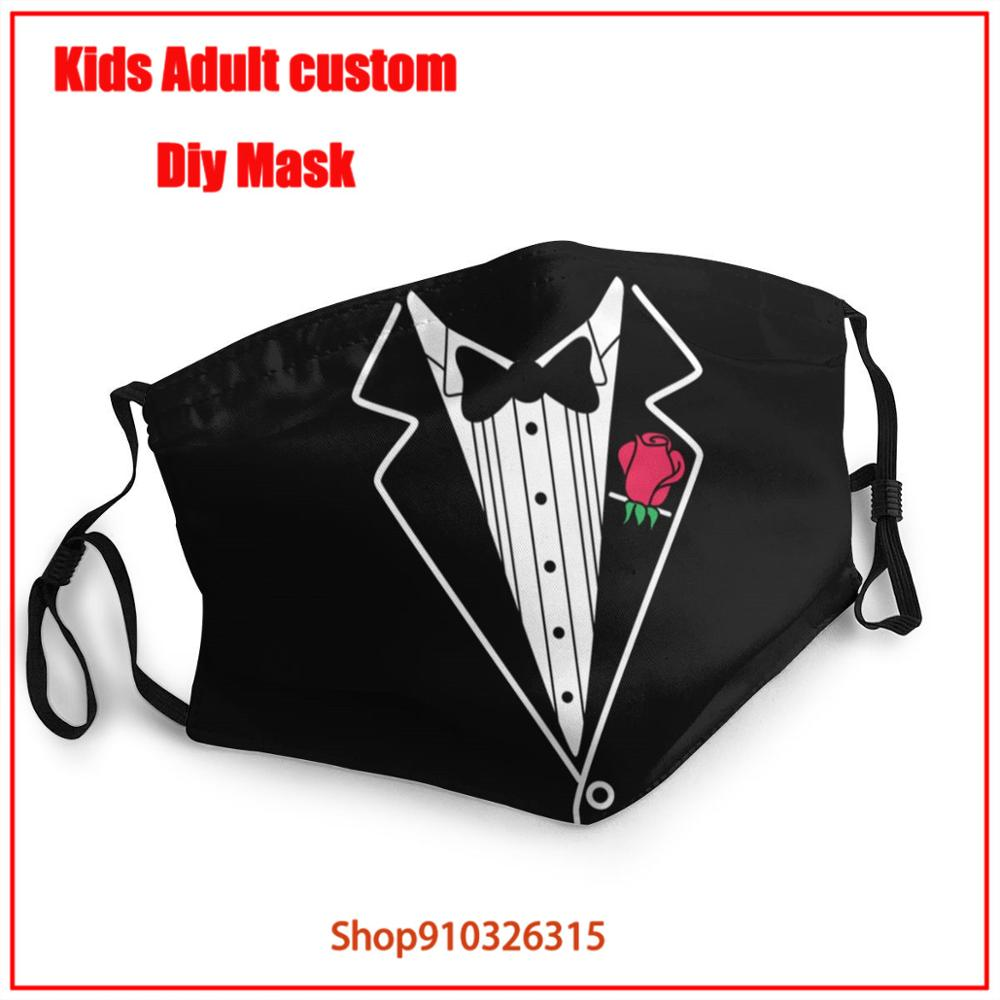 Tuxedo Formal Wear Suit Party Dress Up washable reusable face mask kids mouth mask with design funny