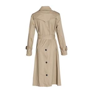 Image 5 - Chiceverの秋のコートルースウインドブレーカー女性特大長袖ハイウエストサッシコートと女性の衣類のファッション
