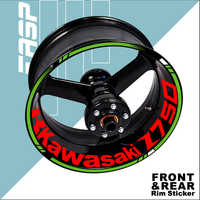 Motorcycle Wheel Stickers For Kawasaki z750 Rim Decals Accessories 2004 2007 2005 2006 2009 2010 2012