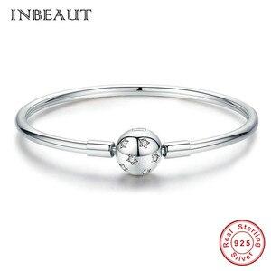 Image 2 - Оригинальный браслет, подходит для фирменного шарма из стерлингового серебра 925 пробы, CZ, луна, сердце, дерево, дьявол, глаз, змеиная цепочка, собака, Сова, бусины, банджи для женщин