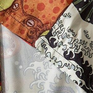 Bebovizi модное японское аниме стильное кимоно с принтом Кита женский кардиган кимоно юката уличная Мужская свободная азиатская одежда