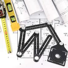 -Regla de doblez de aluminio de azulejo de aleación de apertura de barro de tienda de azulejo de piso de vidrio Vientiane Universal agujero herramientas de perforación