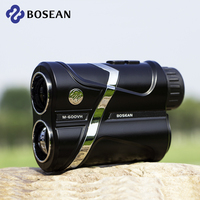 Bosean Golf Laser Rangefinder Flag Lock Distance Range Meter Height Angle Speed ALTI Continuous Scan for Hunting USB Charging