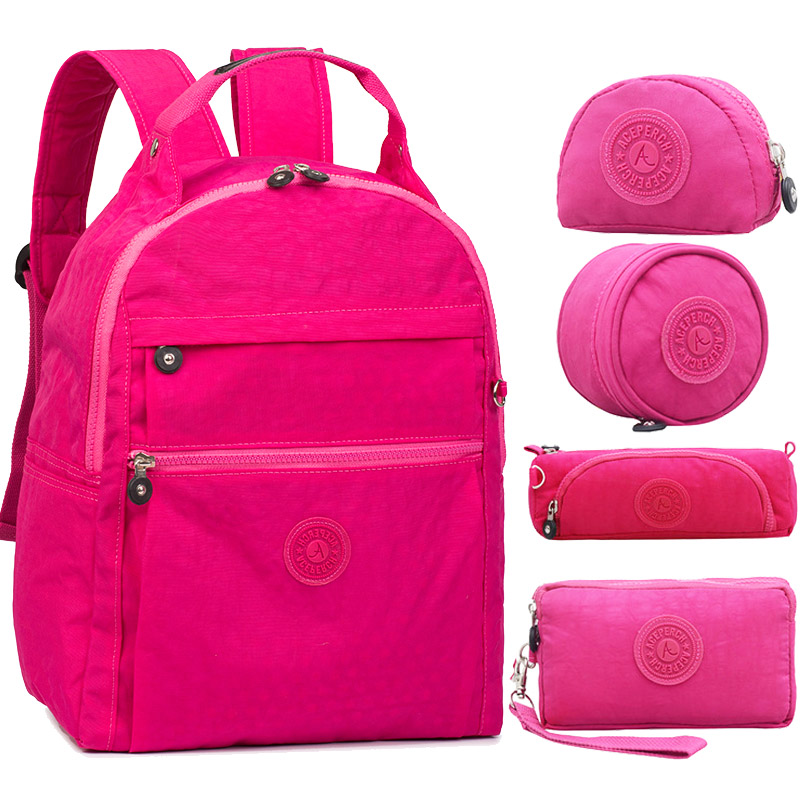 ACEPERCH Women Original School Backpack For Teenage Girl Boy Backpack Schoolbag Waterproof Children Laptop Nylon Travel Bag