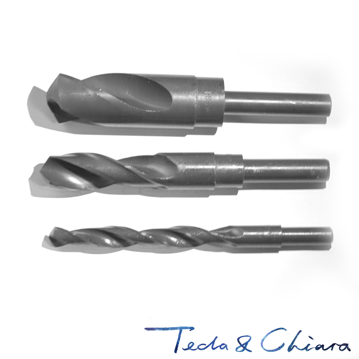 25.5mm 26mm 26.5mm 27mm HSS Reduced Straight Crank Twist Drill Bit Shank Dia 12.7mm 1/2 Inch 25.5 26 26.5 27