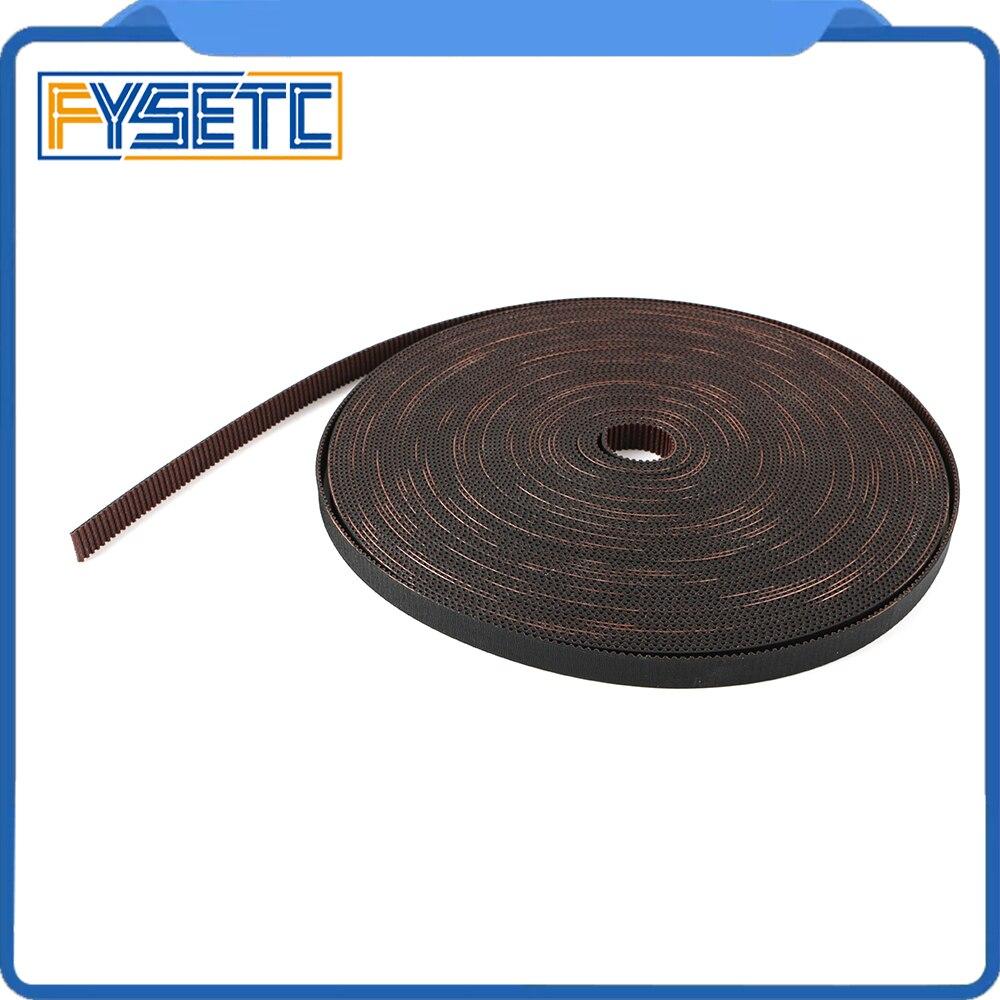 GATES-LL-2GT-9RF 3D Printer 2GT Belt Open Fiberglass Reinforced Rubber GT2 Timing Belt 2GT-9 Length 2M 5M Width 9mm