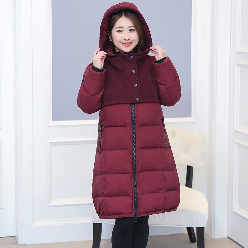 Women's White Duck Down Jackets Red Thick Coat Female Winter Jacket Women Parka Maxi Size 10XL Casaco Feminino WXF513