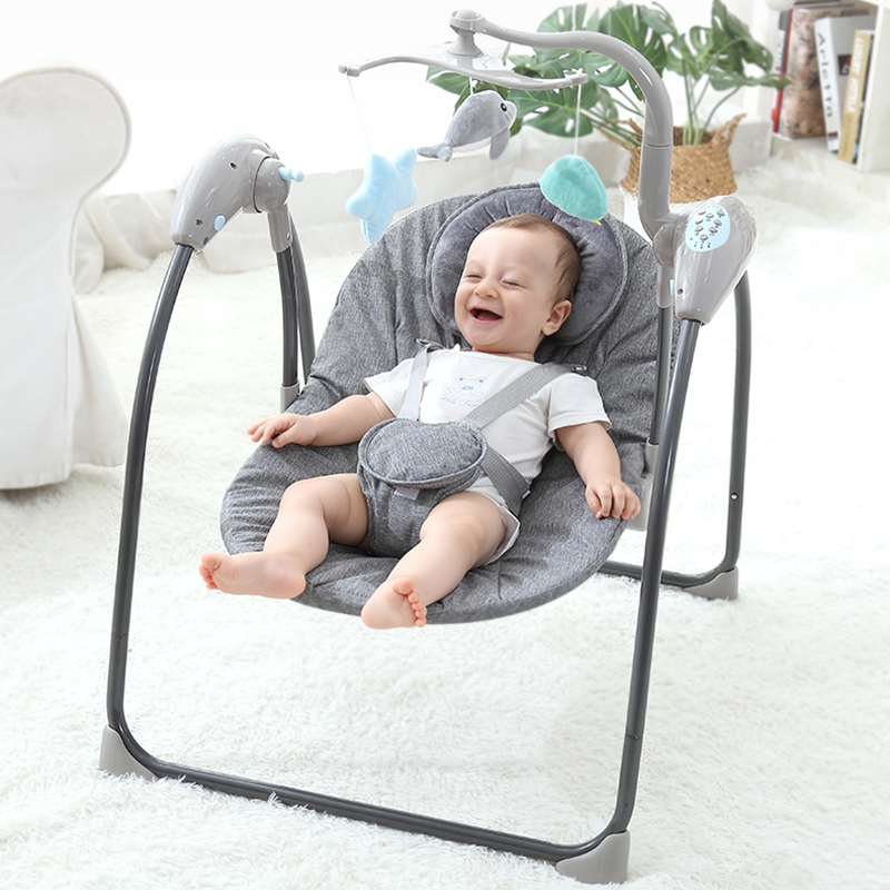Baby Electric Rocking Chair Comfort Swing Sleeping Bed Cradle Reclining With Newborn Chair