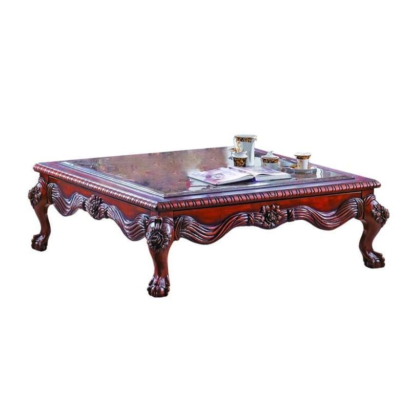 solid wood big square coffee table tea table zhurnalnyj stolik gf48