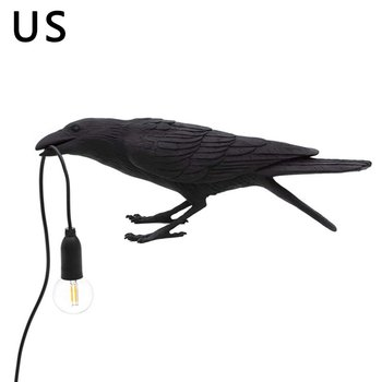 Modern Nordic Resin Bird Table Lamp Italian Bird Lamp Crow Desk Lamp Free Shipping For Living Room Bedroom Dining Room Light image