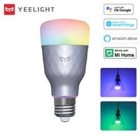 Yeelight lampadina a LED intelligente 1SE luce colorata RGBW 110V 220V 6W E27 lampada dimmerabile App controllo vocale lavora con Google Mi Home Alexa