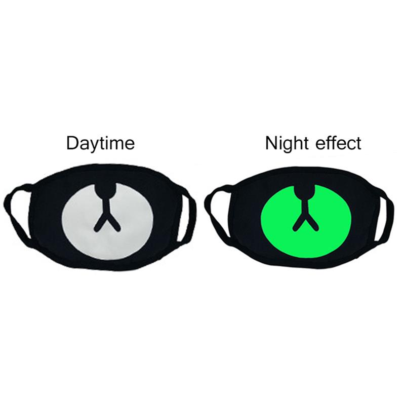 1Pc Fashion Luminous Mask Unisex Anti Dust Mouth Mask Glow In The Dark Cotton Face Mask Clothing Accessories For Outdoor Riding
