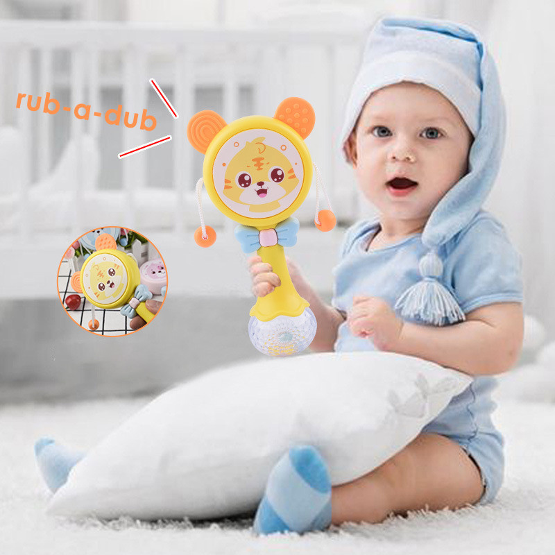 Warmom Baby 3 In 1 Rattles Toys Musical Hand Ring Bell Teether Toddler Rattle Mobiles Toys Infant Baby Early Development Toys