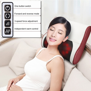 Image 2 - Newest Shiatsu Massage Pillow cervic Massager for neck back relaxation Cloak electric massager body Infrared Heating Care