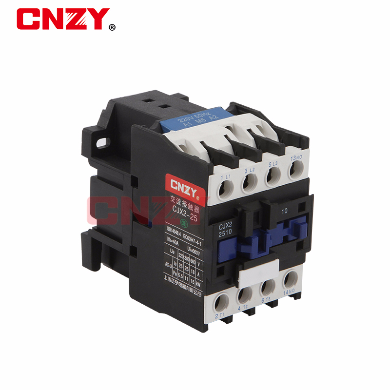 <font><b>CJX2</b></font>-<font><b>2510</b></font> LC1 AC Contactor 25A 3 Phase 3-Pole NO Coil Voltage 380V 220V 110V 24V Din Rail Mount 3P+1NO Normal Open image