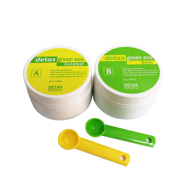 Detax Impression Material Putty Silicone Base + Catalyst  choose from  400g*2 and  500g*2