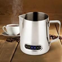 Jarro de espuma de leite com termômetro integrado 20oz/600ml de aço inoxidável leite café barista jarro café acessórios