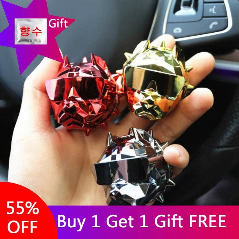 Popular Bulldog Car Perfume Fragrance Clip Auto Vent Air Freshener Scent Parfum Bulldog Diffuser Car Interior Decor