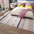Скандинавские геометрические розовые ковры для девочек  прикроватные ковры для детской комнаты  гостиной  марокканские коврики для больши...