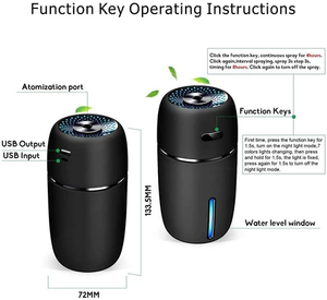 Портативный Автомобильный увлажнитель воздуха со светодиодной подсветкой, диффузор эфирного масла, мини USB увлажнитель воздуха, очиститель воздуха, автомобильный ультразвуковой диффузор для ароматерапии с USB|Увлажнитель воздуха для автомобиля|   | АлиЭкспресс