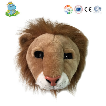 Most popular lifelike wall decoration lion shaped plush animal head toy-in Plush Wall Stuff from Toys & Hobbies